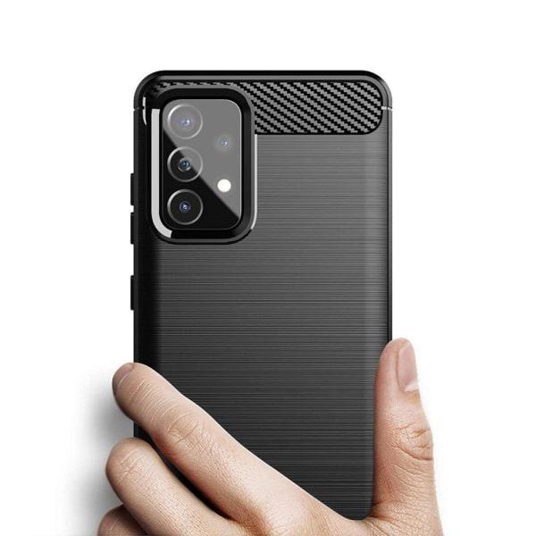 Samsung Galaxy A72 & A72 5G Skal - Anti-Impact Carbon Svart