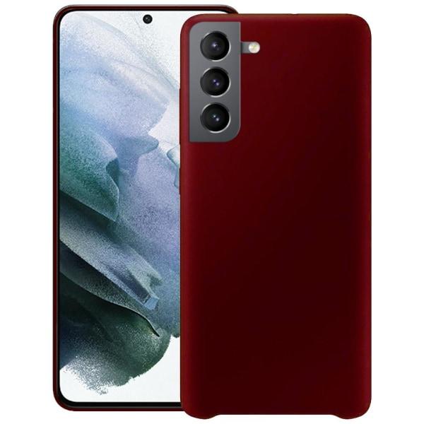 Samsung Galaxy S21 Plus Silicone Case Burgundy Silikonskal Röd