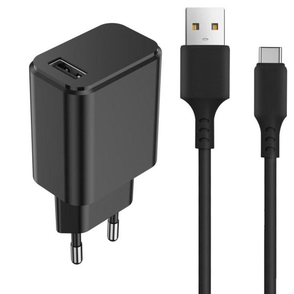 Quick Charge USB-C Laddare 15W USB-C Snabbladdare 3A Svart