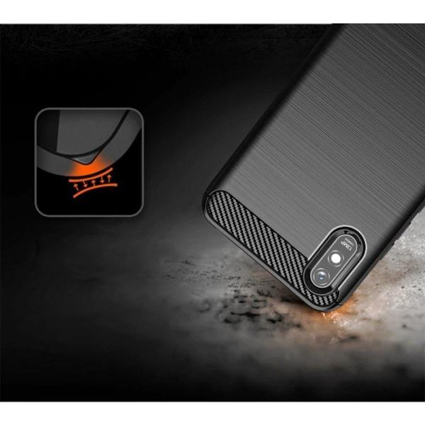 Xiaomi Redmi 9A Skal - Anti-Impact Carbon Svart