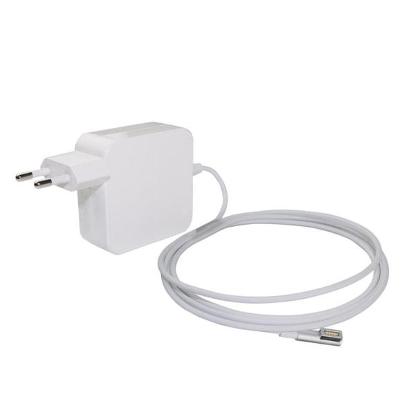Akyga® Macbook Laddare 85W MagSafe 1 L Kontakt 1.7 Meter Vit