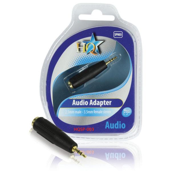 Audio Adapter 2.5 mm till 3.5 mm Svart
