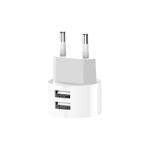 XO™ Väggladdare till iPhone & Android Kompakt design - 2X USB Vit