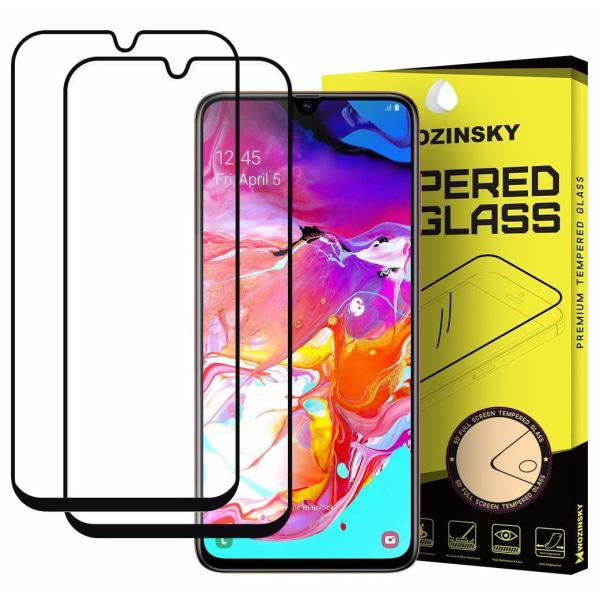 2st Samsung Galaxy A70 Skärmskydd heltäckande Transparent