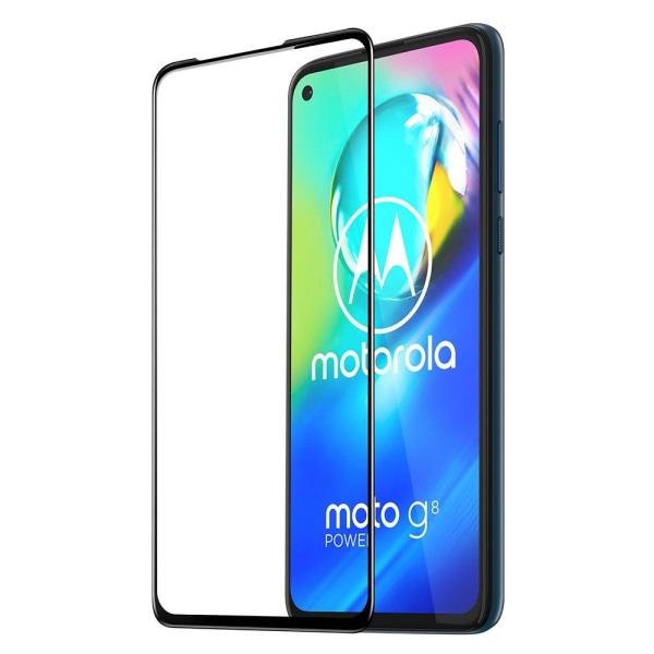 Motorola Moto G8 Power Skärmskydd Heltäckande Härdat Glas Transparent