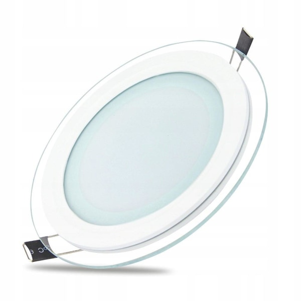 Forever Rund LED Downlight 6W (3000k) Varm vit Ø75 mm Vit