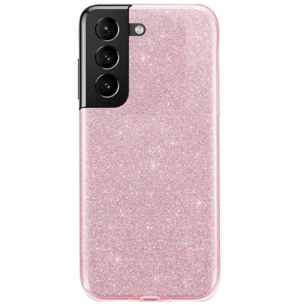 Glitter Skal för Samsung Galaxy S21 Plus  - Roséguld Rosa guld