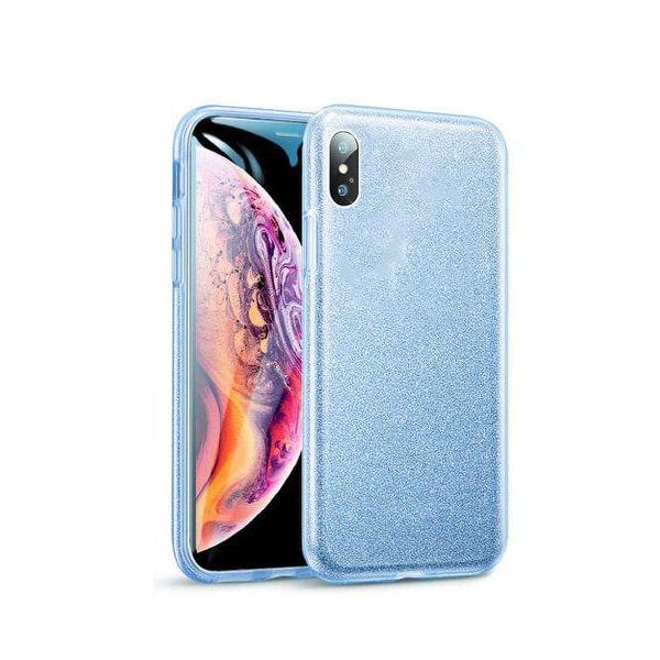 Gradient Glitter 3i1 Skal för iPhone XS Max - Blå Blå
