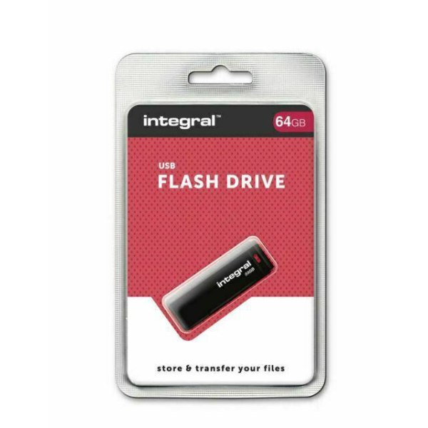 Integral® USB-minne 64GB  Svart