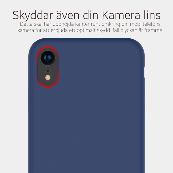 iPhone XR Skal Silicone Slim Case Soft Matt - Burgundy Röd