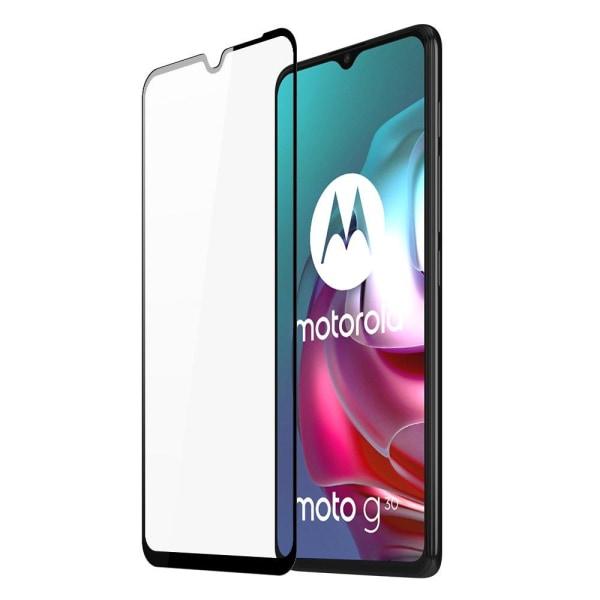 Motorola Moto G30/G10 Skärmskydd Heltäckande Härdat Glas Transparent