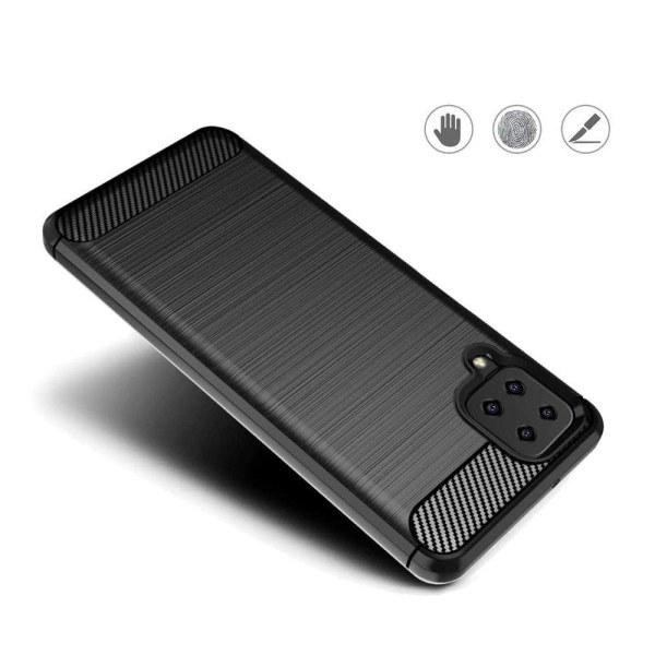 Samsung Galaxy A12 Skal - Anti-Impact Carbon Svart