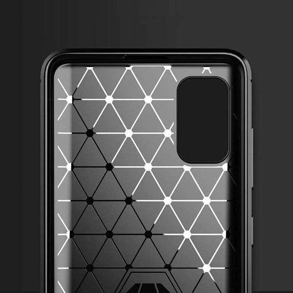 Samsung Galaxy A41 Stöttåligt Skal - Kolfiber Svart