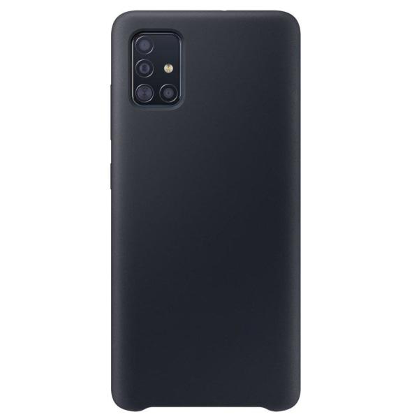 Samsung Galaxy A51 Silicone Case - Matt Svart Silikonskal Svart