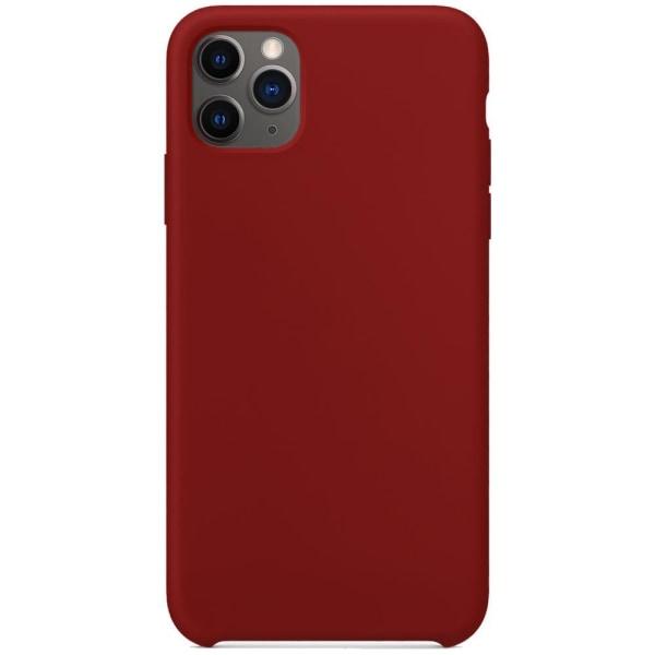 Silikonskal till iPhone 11 - Burgundy Röd