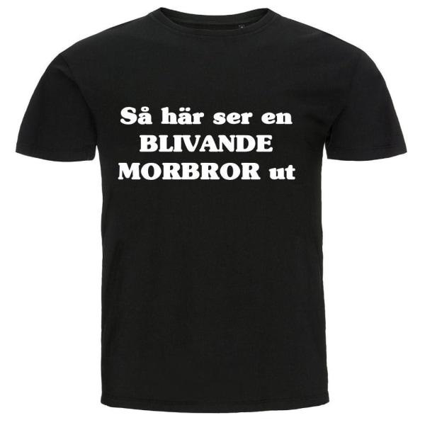 T-shirt - Så här ser en blivande morbror ut Black M