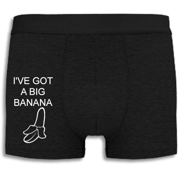 Boxershorts - I've got a big banana Black XXL