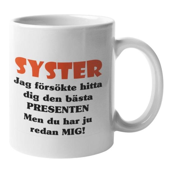 Mugg - Syster presenten