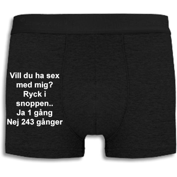 Boxershorts - Vill du ha sex med mig? Black L