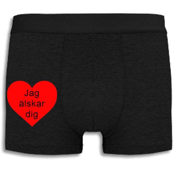 Boxershorts - Jag älskar dig Black L