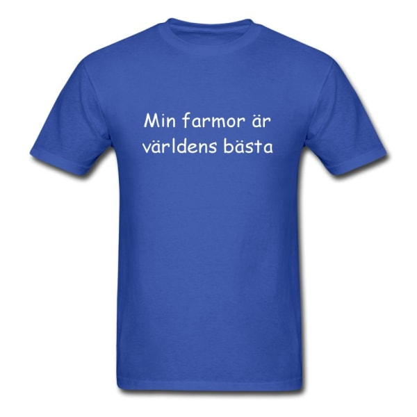 Barn T-shirt - Min farmor är världens bästa Blå