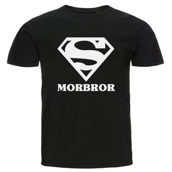 T-shirt - Super morbror Black Storlek L