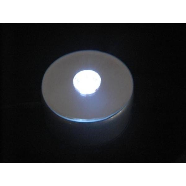 Roterande ljusbox, Vita lampor, 9 cm