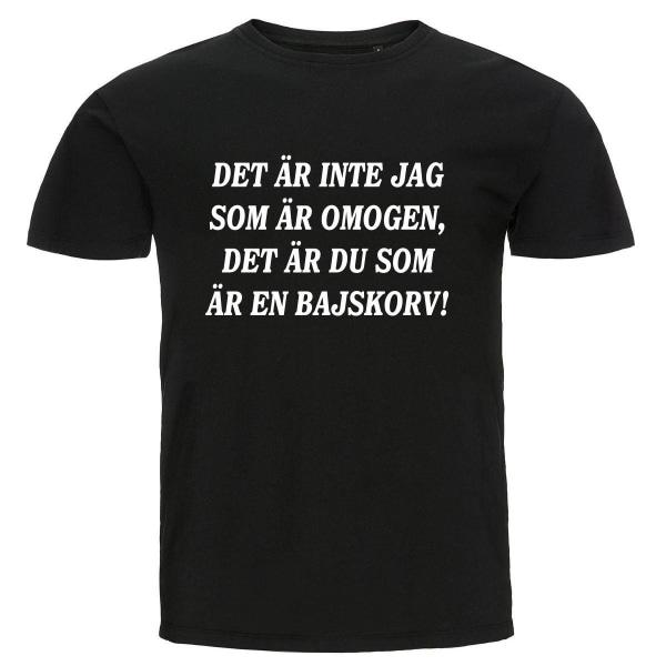 T-shirt - Det är inte jag som är omogen Black XXL