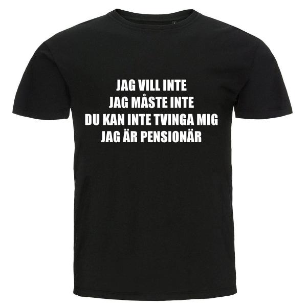 T-shirt - Jag är pensionär Black M