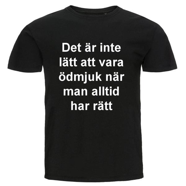 T-shirt - Ödmjuk Black L