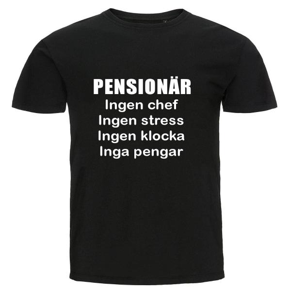 T-shirt - Pensionär, Inga pengar Black S