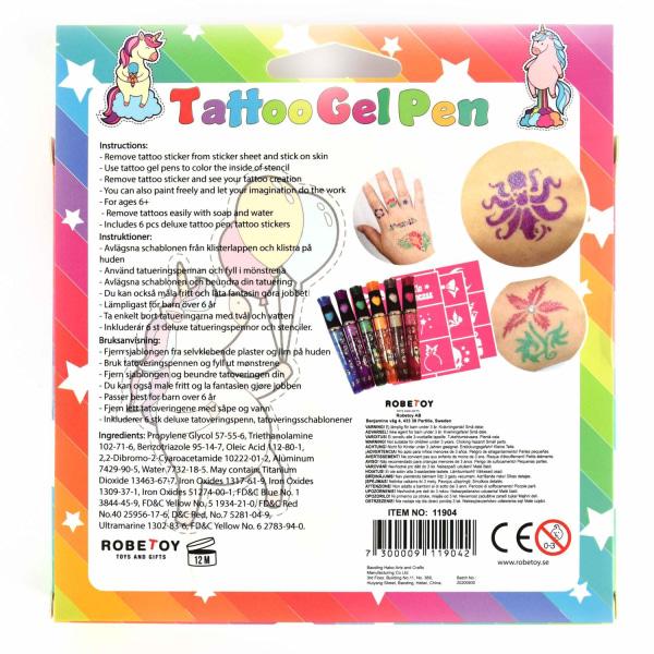 Tatueringspennor Deluxe 6-pack