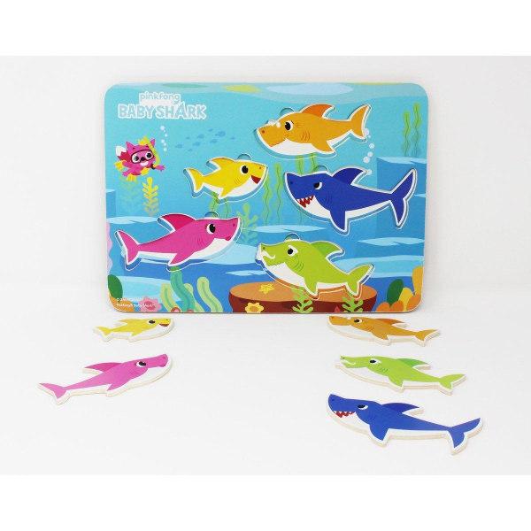 Baby Shark Träpussel 5 bitar multifärg