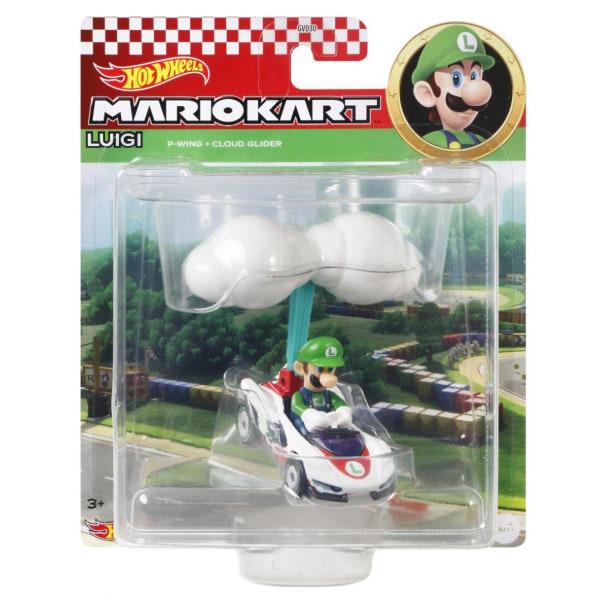 Hot Wheels Mario Kart Glider Luigi multifärg