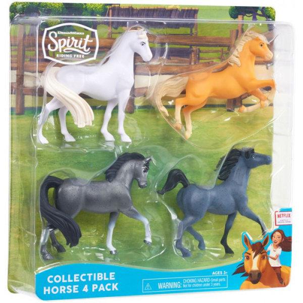 Spirit Collectible 4 hästar Grå 39367