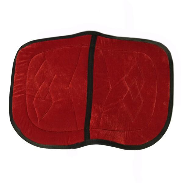 Dubbel sadelplatta ryttartillbehör röd liten