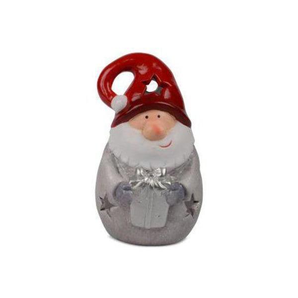 Santa Lantern Grey keraaminen 18 cm Grey