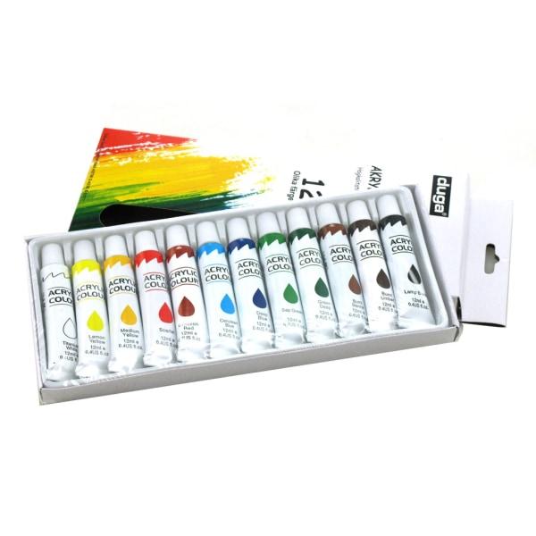 Akrylfärg 12 olika färger multifärg one size