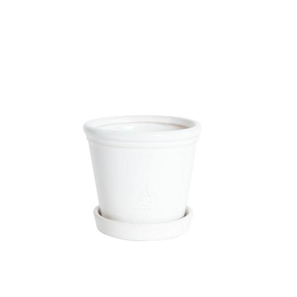 Potin kupla harmaa 11x13 cm White