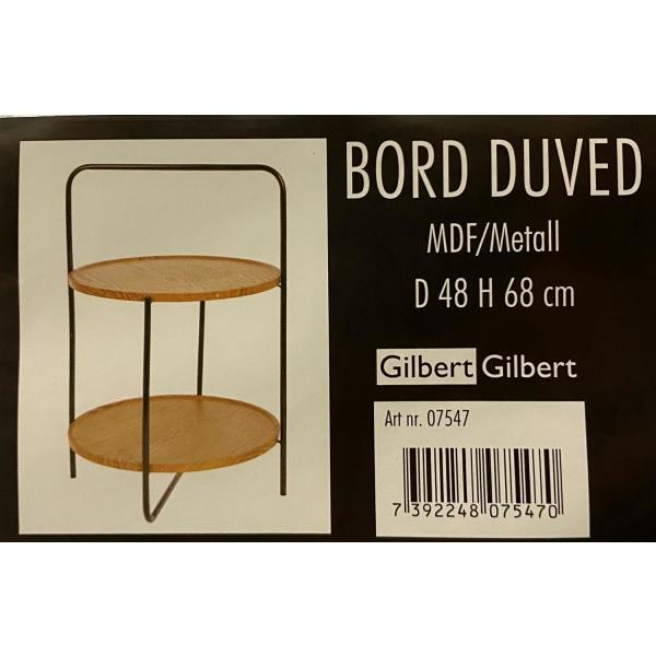 Pöytä / metalli kaksinkertaiset lattiat H68 cm Nature