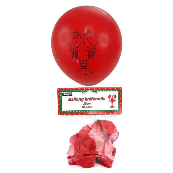 Ballonger Kräftskiva Röda 10-pack Röd