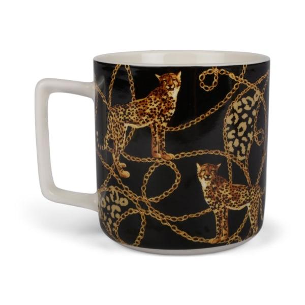 Muki Leopard musta 4 kpl Multicolor