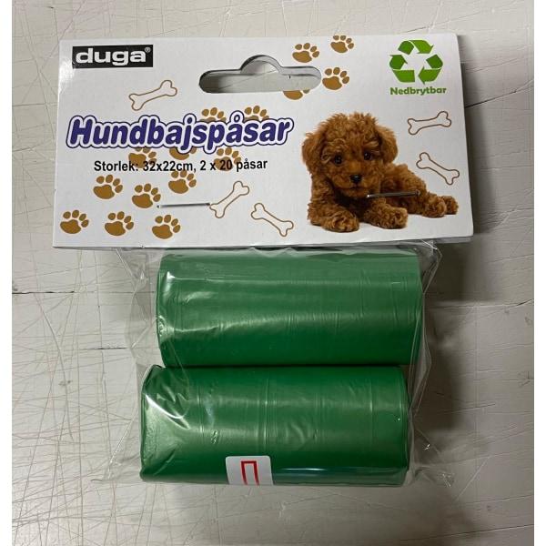 Koiran kakkapussit 2 rullaa 20 pussia Green