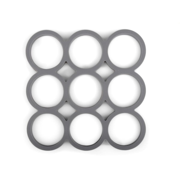 Grytunderlägg Cirklar Silikon Grå 2-pack grå