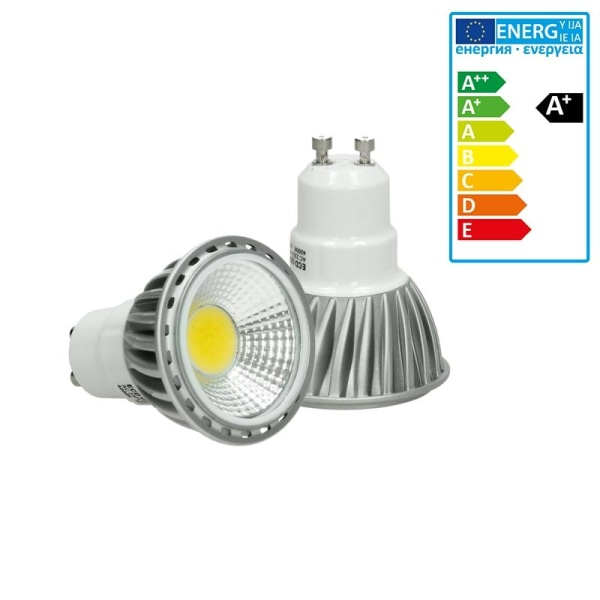 4-LED COB GU10 spotlight glödlampor energibesparing 6W Dimbar