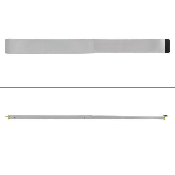 ECD Germany 2x ramp tillverkad av aluminium med en halkfri, Svart
