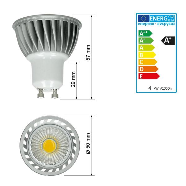 ECD Germany 5 x LED COB GU10 spotlight lampa spotlights
