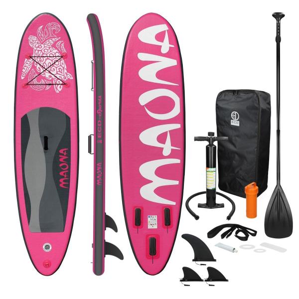 Surfingbräda Stand Up Paddle SUP styrelse Maona paddel ombord Rosa