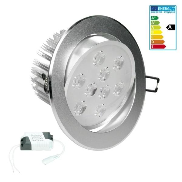 ECD Germany 6-pack LED-infällda strålkastare 9W 230V - Ø13,5cm -