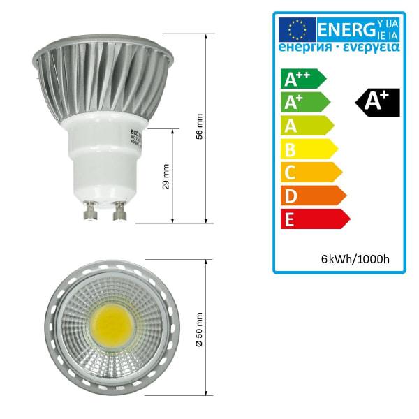 ECD Germany 20-pack 6W GU10 LED spot ersatt - 30W halogen -